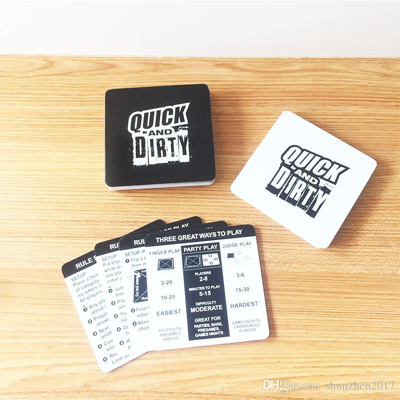 Fun Party Game Quick And Dirty An Offensively Black Edition Family Interaction Children's Educational Toys