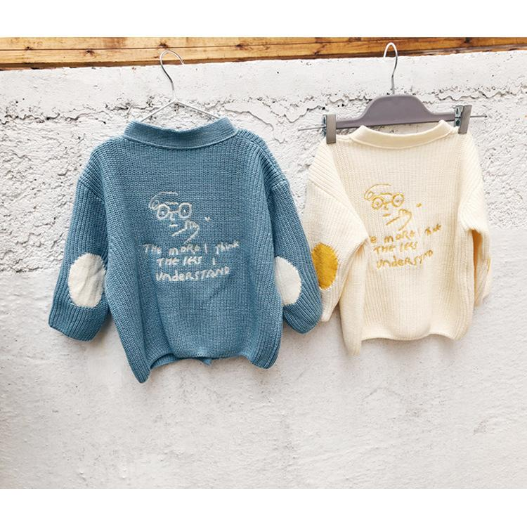 df80fd951 WLG Boys Girls Autumn Spring Sweaters Kids Knitted Letter Printed ...