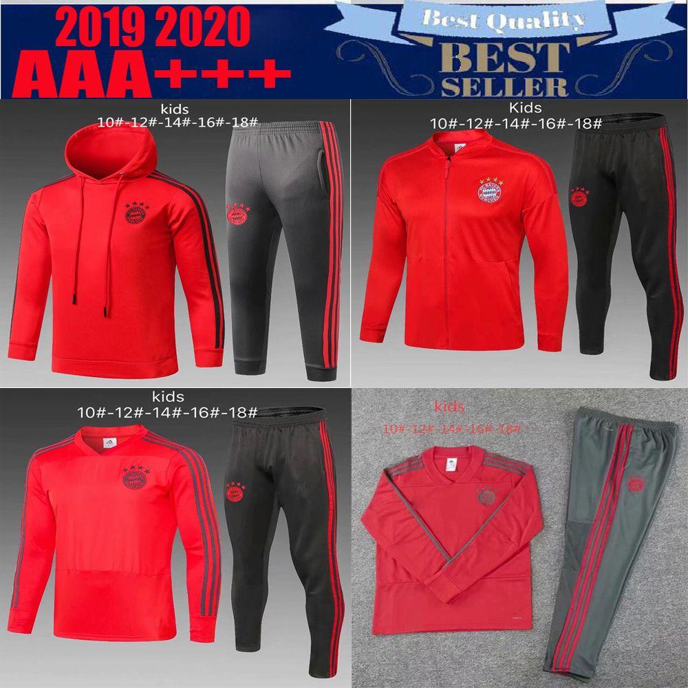 82339e840 2019 19 20 Kids Kits Bayern Munich Soccer Jacket Tracksuit 2019 2020  Survetement VIDAL LEWANDOWSKI MULLER ROBBEN JAMES Full Zipper Training Suit  From ...