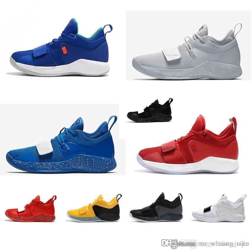 a6bbee4873b 2019 Cheap Mens Paul George Basketball Shoes For Sale New Arrival PG2.5  White Blue Wolf Grey Black Yellow PG 2 Elite Sneakers Boots PG2 With Box  From ...