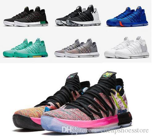 92de5baaafe5 Kd 10 Basketball Shoes MVP Oreo Black What The Red Velvet Platinum  Multicolor Hyper Turquoise Kevin Durant Sport Shoes Sneakers Cheap Sneakers  Basketball ...
