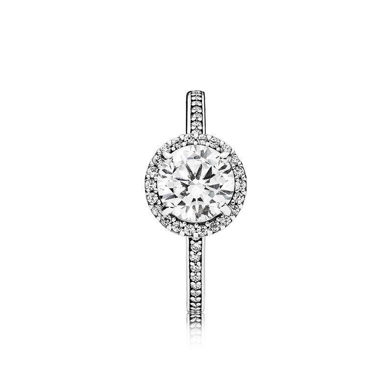 3eec3020add0 Diamond Pandora Style Ring Hot Luxury Real Solid 925 Anillos de plata  esterlina Anillos de boda de la moda Joyería para mujer Anillo de  compromiso ...