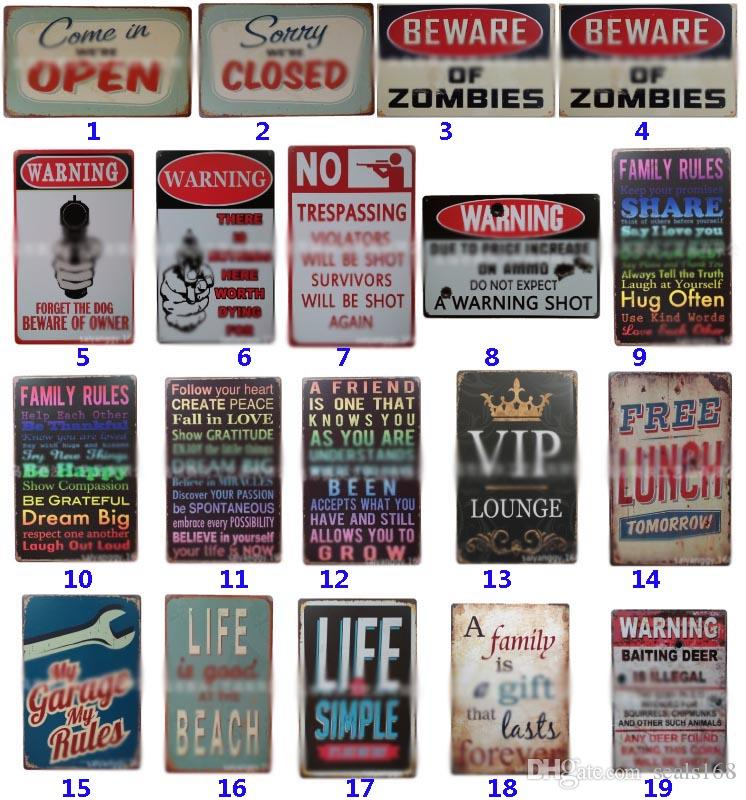 255 Style Metal Painting Tin Signs Collection Wall Art RetroTIN SIGN Wall Painting Art Bar Cave Pub Restaurant Home Decoration HH7-1966