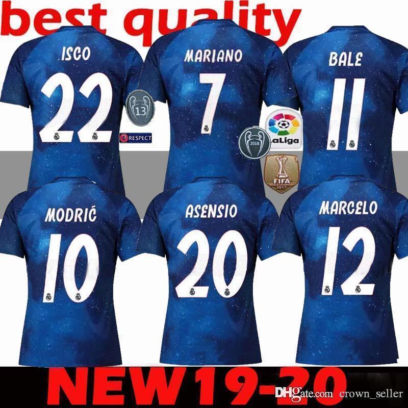 2019 2020 Nuevo Real Madrid HOME Soccer Jersey 8 KROOS 11 BALE 19 20 Real  Madrid AWAY ASPAS Asensio Alarcon Benzema Camisetas De Fútbol Por  Crown seller 50e281cbaa12f