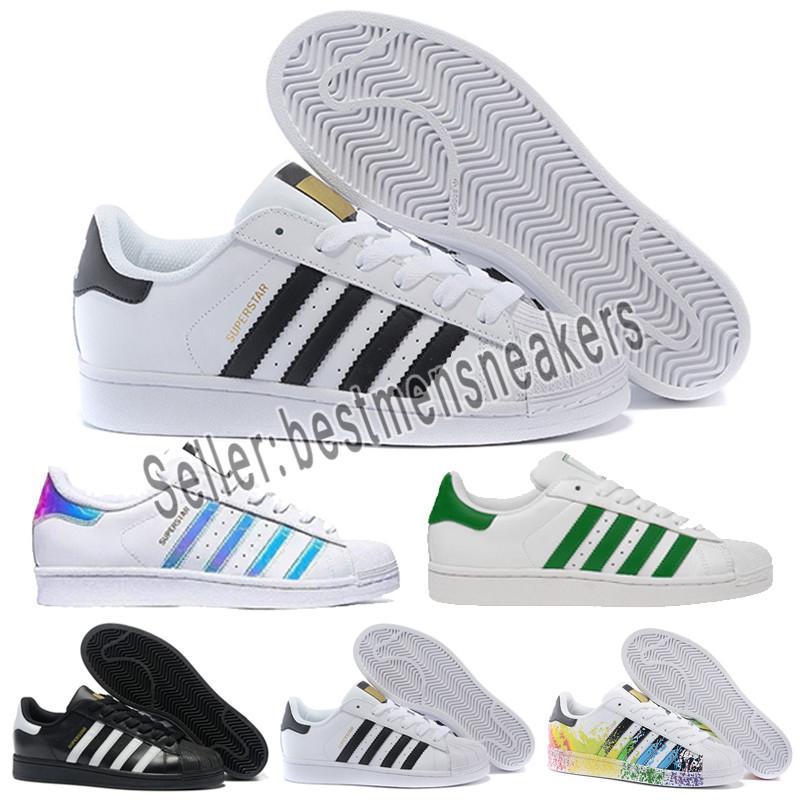 Designer shoes Adidas men women 2019 Originals Superstar Weißes Hologramm Irisierende Junior Superstars 80er Jahre Stolz Sneakers Super Star Damen
