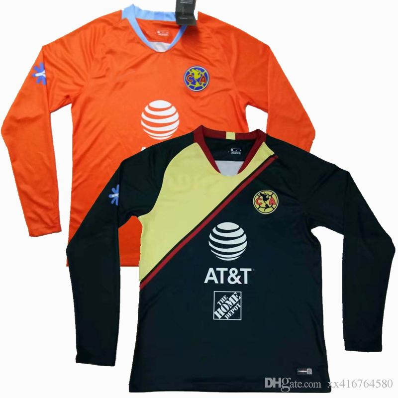 0c7d7b9777e S XXL New 2019 LIGA MX Club America Long Sleeve Soccer Jersey 18 19 Home  Away O.PERALTA Best Quality Football Full Shirts Canada 2019 From  Xx416764580