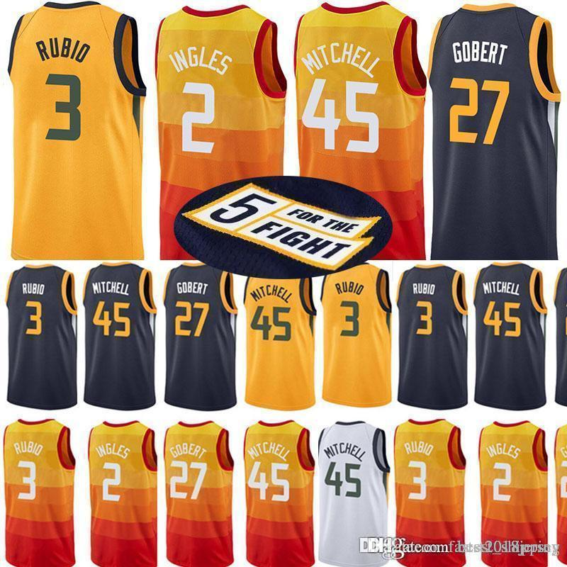 5fae2fae3 2018 Utah Jazzs 45 Donovan Mitchell Jersey 27 Rudy Gobert 3 Ricky Rubio 2  Joe Ingles 12 John Stockton 32 Karl Malone 24 Grayson Allen Jerseys From ...