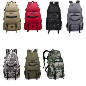 a63b62bc278 Outdoors High Capacity Backpack Man Woman Canvas Backpack Camouflage Travel  Bag Hiking Shoulder Bag Solid Mountaineering Backpacks LJJV214 Outdoors  High ...