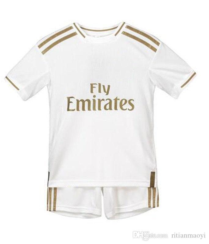 save off d08b2 be41c Kids 2019 2020 Football Kits Real Madrid Children Jersey HAZARD ASENSIO  Youth Soccer shirt Camiseta de fútbol Niño Maglia da calcio bambino