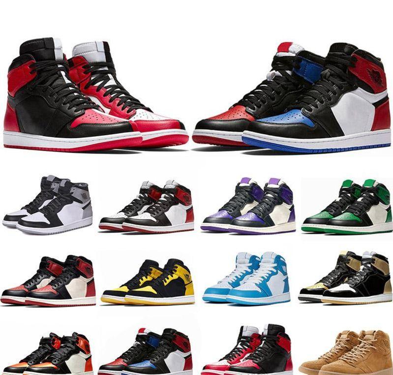 2019 Nike Air Jordan Retro Nuevo 1 1s Zapatillas de baloncesto para hombre No para reventa Rojo Amarillo París Saint German Top 3 Unc Designer Sport