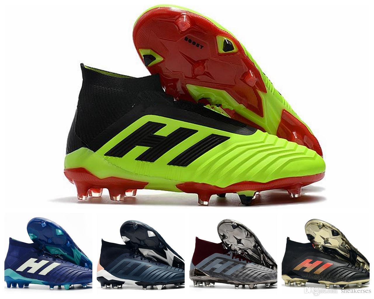 ADIDAS Hot Predator 18 Predator 18.1 FG PP Paul Pogba soccer 18 x tacos Slip On botas de fútbol para hombre zapatos de fútbol de alta gama baratos