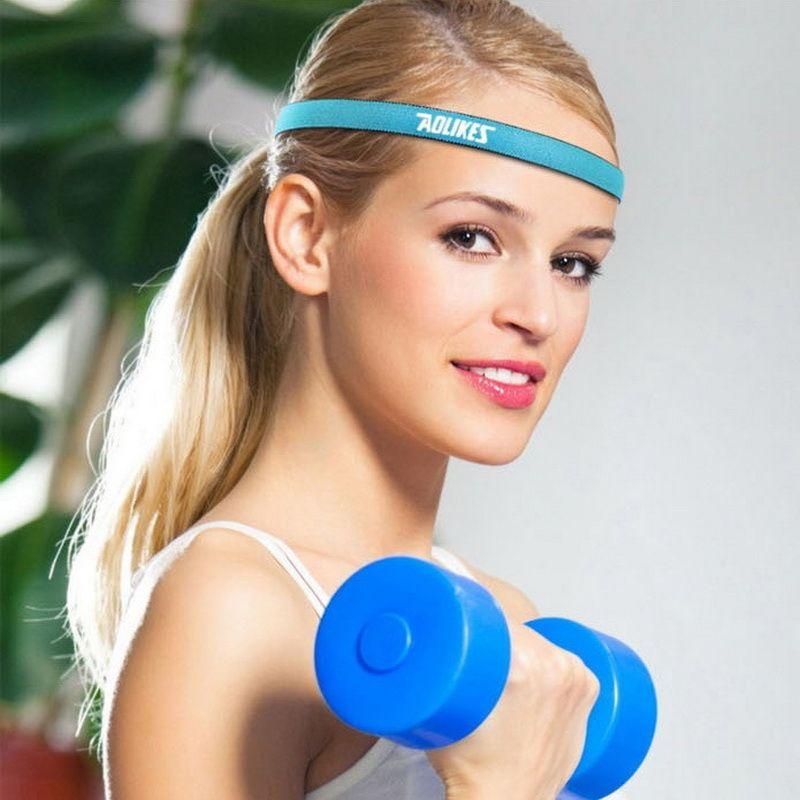 5ab888b39d08 2019 Yoga Hair Bands Women Sports Headband Men Running Sweatbands Nylon Anti  Slip Head Band Elastic Fitness Headbands  256301 From Worldtopshoes