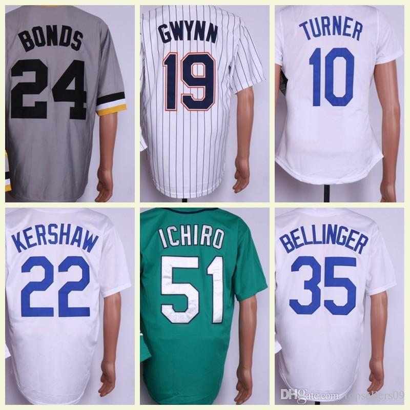 sports shoes be678 d67dd Men's Baseball Jerseys 9 Ted Williams 22 Clayton Kershaw 35 Cody Bellinger  10 Justin Turner Fashion Jersey Size M-XXXL