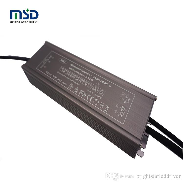 CE SAA ETL approved 120W 12V 24V 36V 48V 54V CV Dali ip67 waterproof led power supply LED light driver outdoor customized