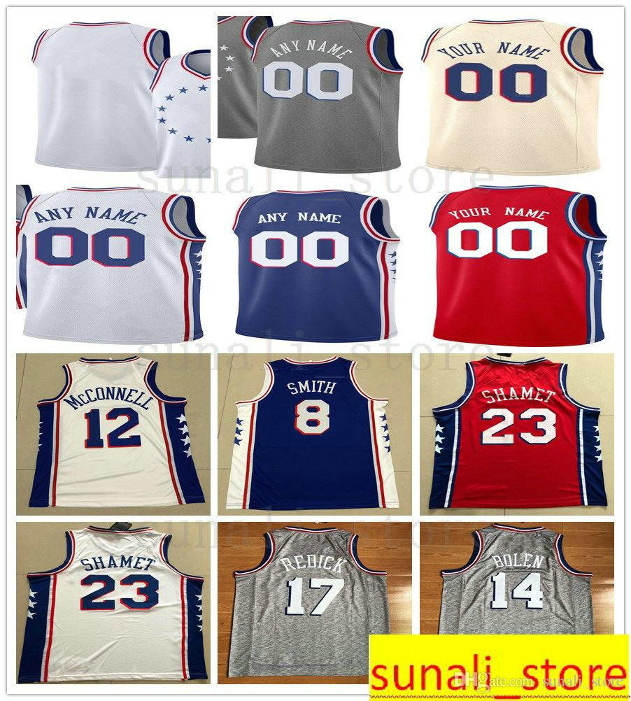 the latest 5a53e 42b25 Printed Tobias 33 Harris JJ 17 Redick Boban 51 Marjanovic Zhaire 8 Smith  Amir 5 Johnson Mike 1 Scott T.J. McConnell Jersey