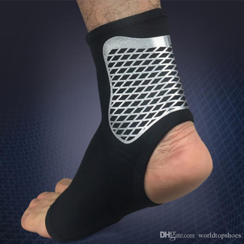 ad2fd9fd6a 2019 Elastic Fiber Safety Ankle Support Sports Ankle Protective Sleeve Brace  Compression Support Sleeves Plantar Fasciitis Foot Socks #654923 From ...