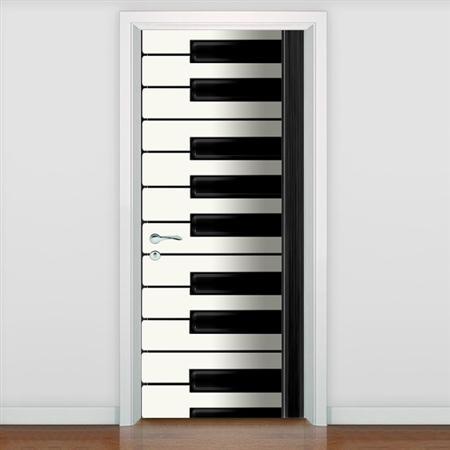 Free Shipping DIY Door Sticker Piano Keyboard Door Decals Decorations For  Bedroom Living Room Wallpapers Decal Home Accessories