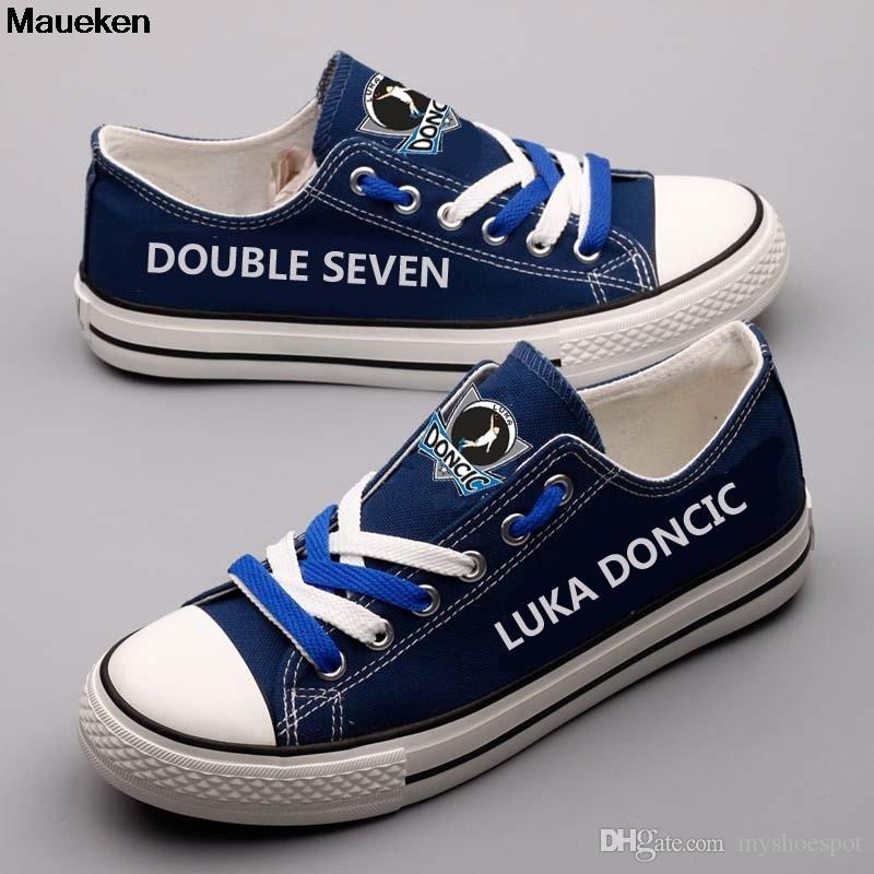 6267e5b489e 2019 DOUBLE SEVEN LUKA DONCIC Canvas Shoes Customized Adults Walking ...