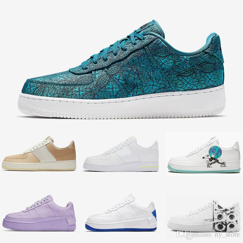 NIKE Air Force 1 Air Forces one Jester XX Low Pack Mens Running Shoes Green Abyss NYC Earth Day What The 90s Sports Sneakers for man and women