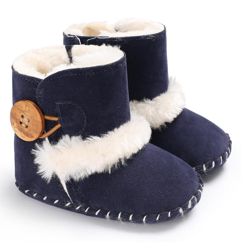 867597f08 Non Slip New Winter Genuine Leather Baby Shoes Boots Infants Warm Shoes Fur  Wool Girls Baby Booties Sheepskin Boy Boots Cheap Sneakers For Toddlers ...