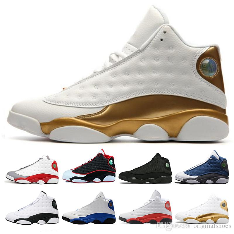 c5af66ea5d284f 13 13s Mem Basketball Shoes Sneakers Trainers Running Chicago 3M GS Hyper  Royal Bordeaux DMP Wheat Olive Ivory Black Sports Shoes Size 40 47 Youth ...