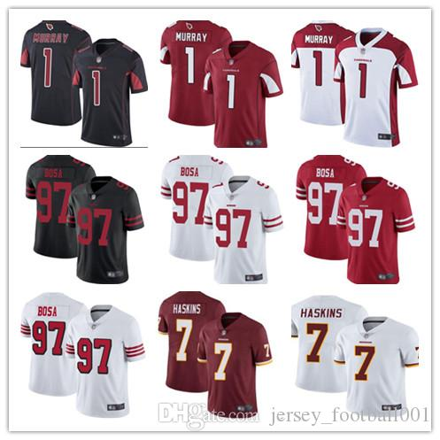 best sneakers 6e367 d6224 2019 Arizona bets Cardinals 1 murray jersey 49ers 97 bosa San Francisco  Washington 7 haskins Redskins rugby jersey baseball jersey