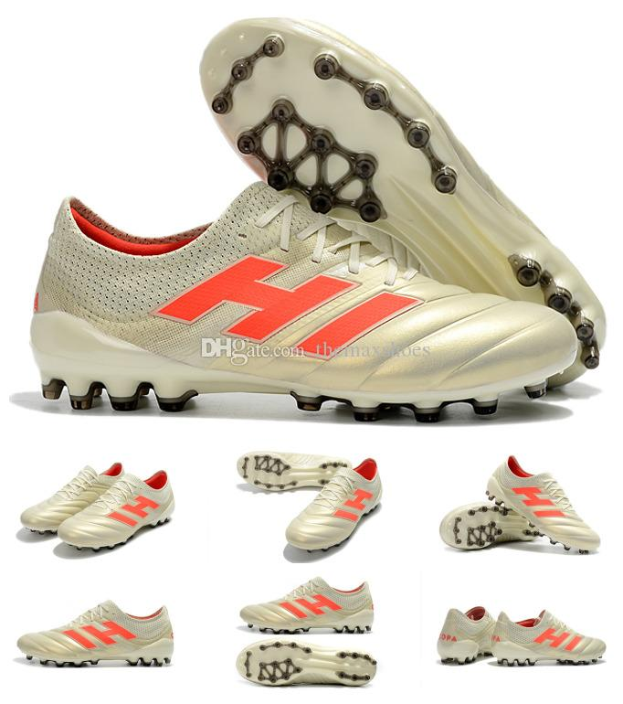 sale retailer d3f3d 04447 New Mens Copa 19.1 AG Champagne Slip-On Soccer Football Shoes 19 19 x Boots  Scarpe Calcio Cheap Cleats Size 39-45