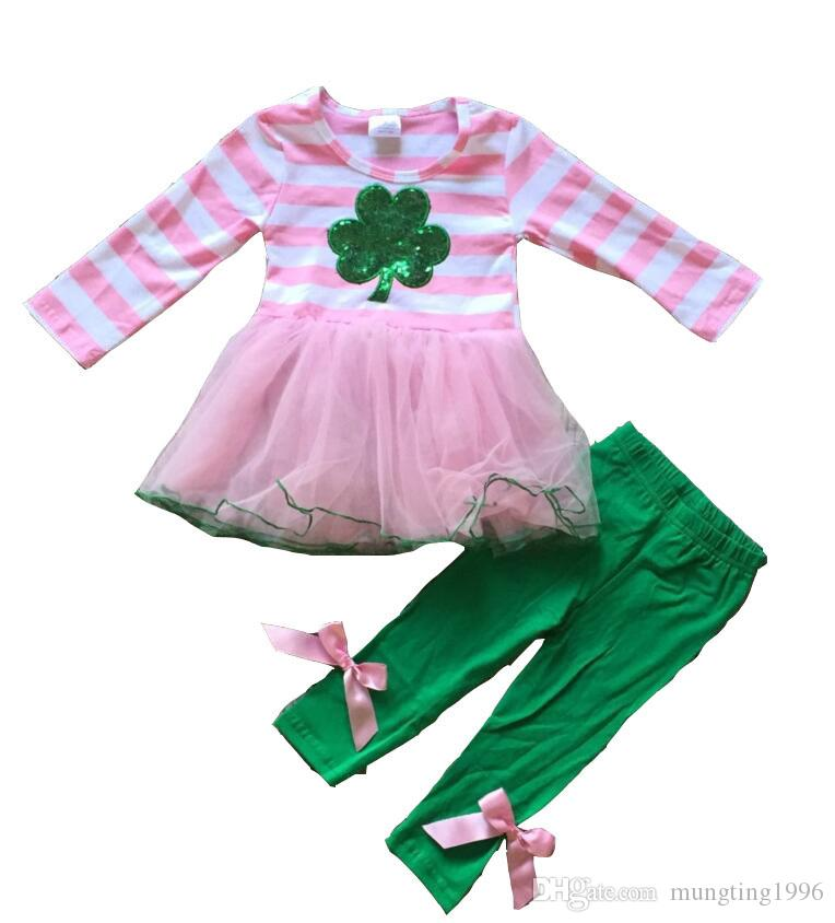 da988dee2 2019 New Arrival St.Patrick Girls Clothing Sets Baby Kids Black Top With  Bottom Pants Shamrock Print Clothing St Patrick From Mungting1996, $8.04 |  DHgate.