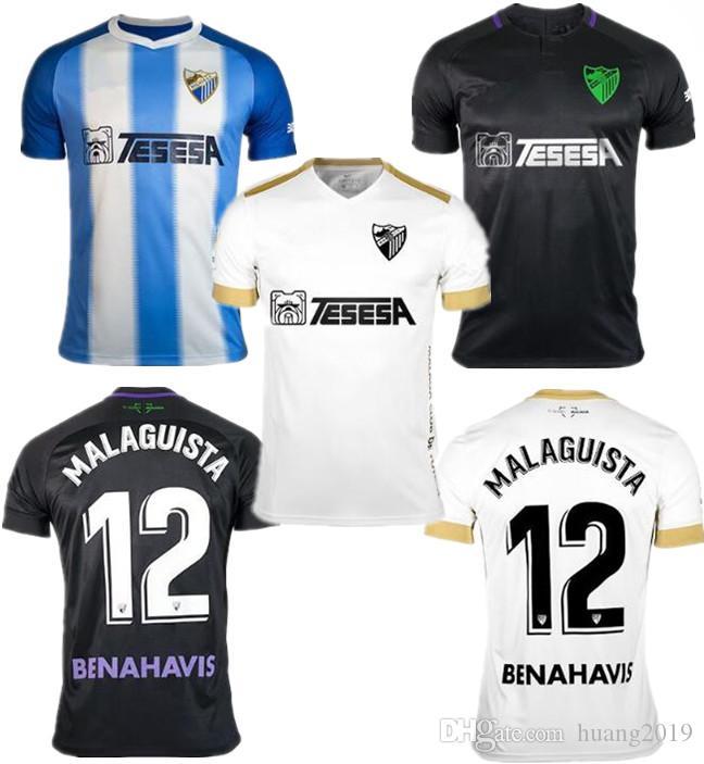 AAA Super Thai Versión Calidad 18 19 Segunda Camiseta Del Málaga 12 Camiseta  Deportiva MALAGUISTA GONZALEZ BASTON ONTIVEROS 2018 Uniforme De Fútbol Por  ... eaa289a450b2b
