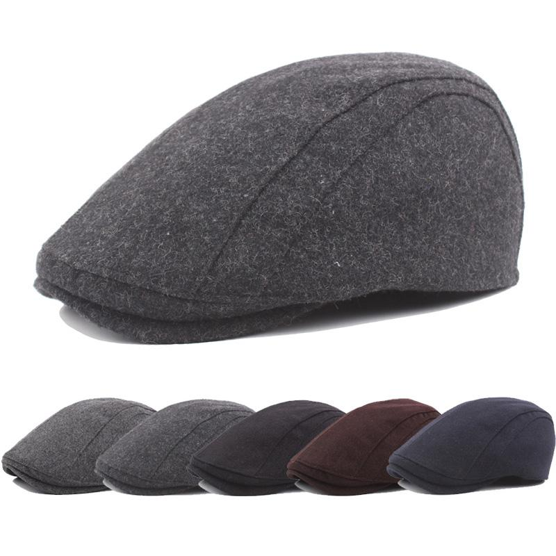 5424d8cca96 2019 Mens Plain Black Brushed Hat Ivy Golf Driving Summer Sun Flat Cabbie  Newsboy Solid Color Classic Cap From Ever1314