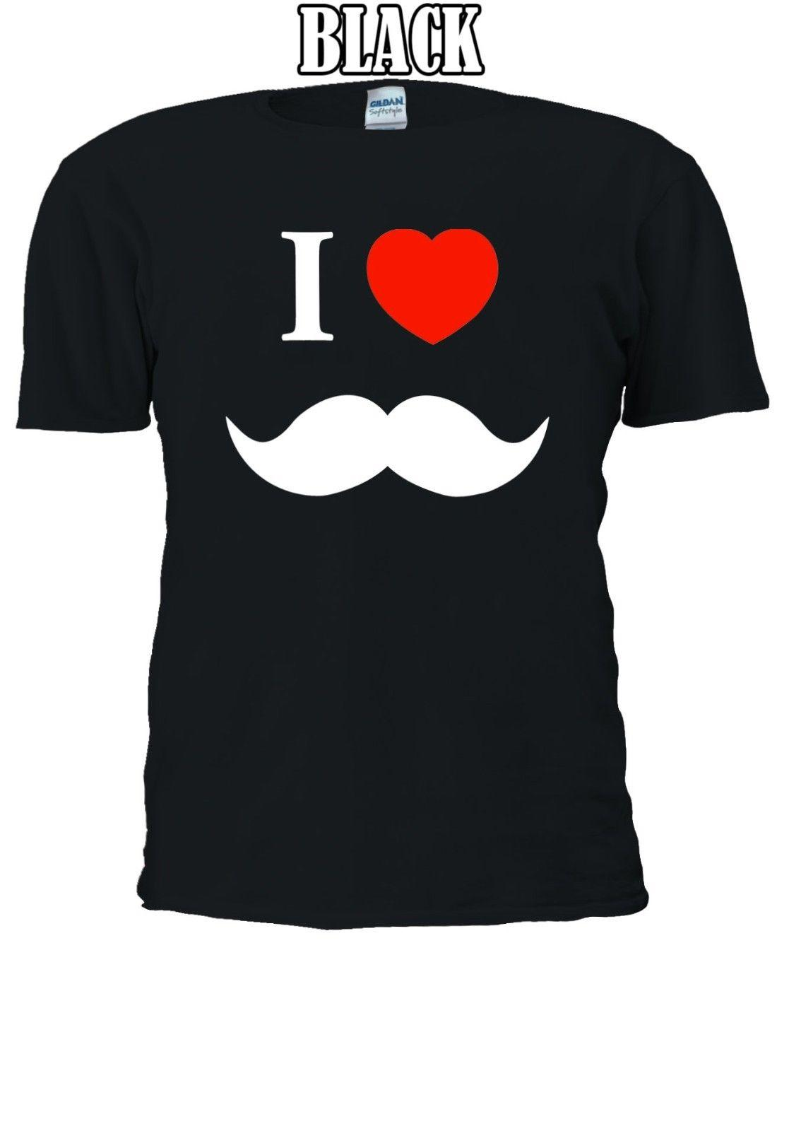 a637fabcb3 Compre Eu Amo O Coração Bigode Tumblr T Shirt Engraçado Colete Regata Das  Mulheres Dos Homens Unisex 1298 Tees Personalizado Camisa De T Camisola Do  Hoodie ...