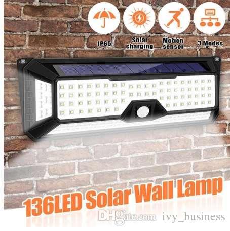 Modes Solaire Piscine Pir De 136 Extérieure Jardin Étanche Sécurité Led Lampe 3 Porte Capteur 1300lm Motion rdBexoWC