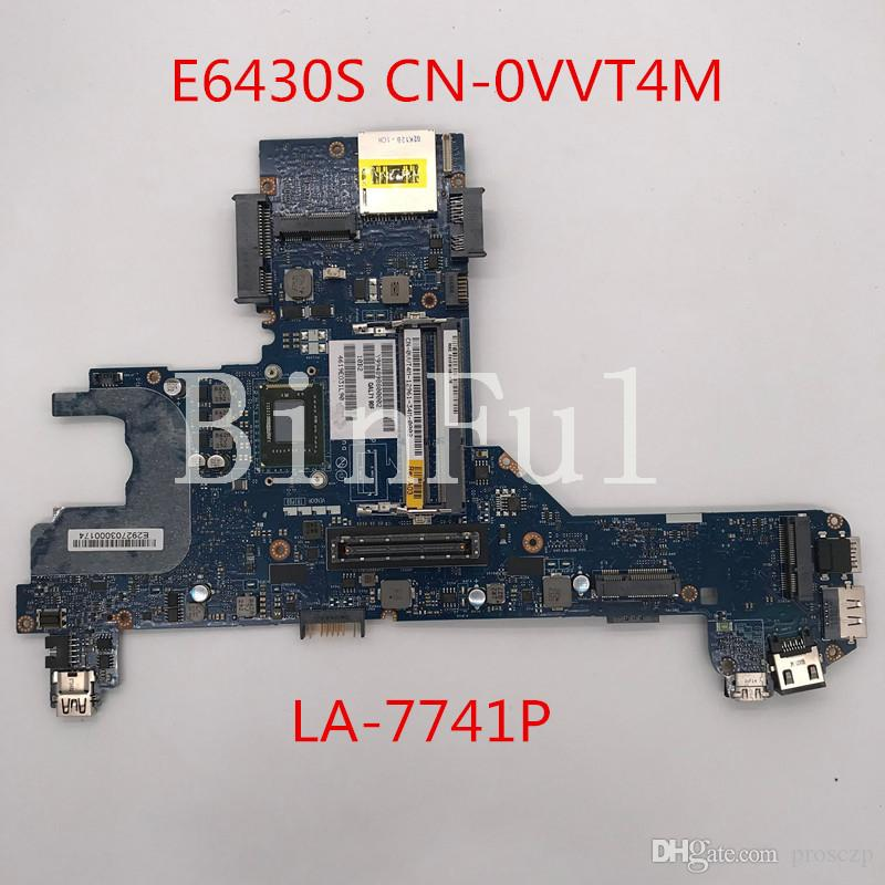 High quality For E6430s Laptop motherboard CN-0VVT4M 0VVT4M VVT4M QAL70 LA-7741P X99 100% full Tested