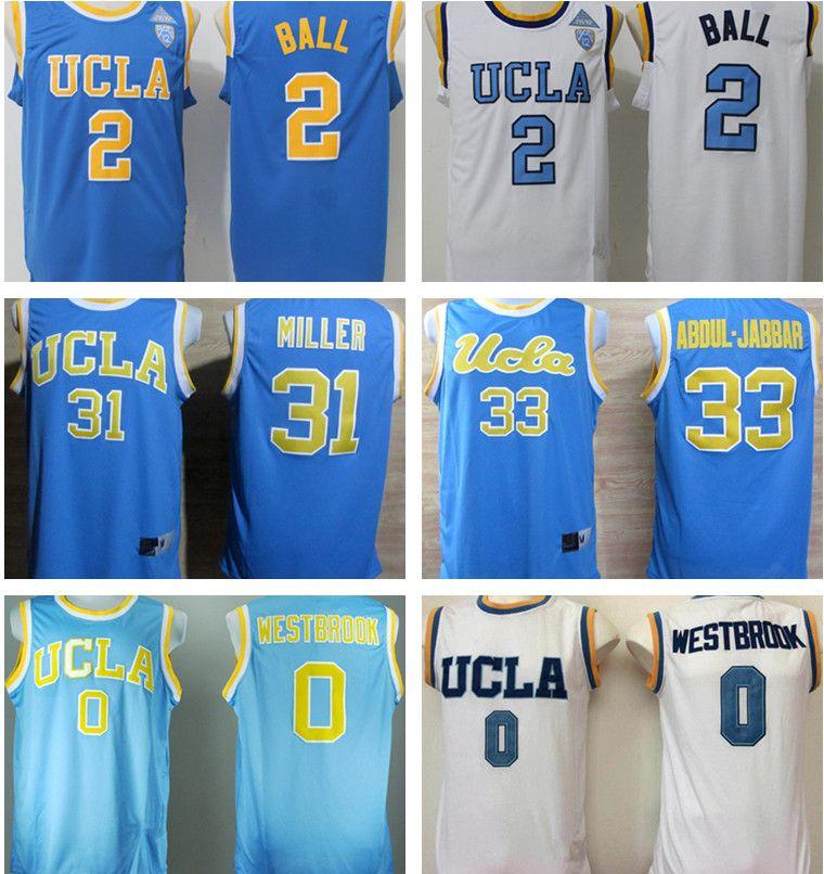 hot sale online 949e7 f9522 All stitched UCLA basketball jerseys #0 Russell Westbrook #32 Bill Walton  #14 Zach LaVine #42 Kevin Love #2 Lonzo Ball embroidered jerseys