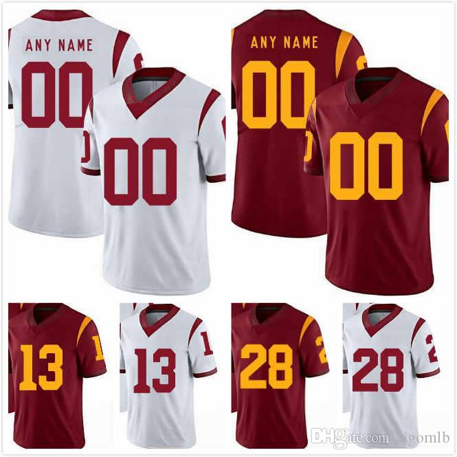 newest bd87b 80b33 Chase McGrath Jersey 40 AcaCedric Ware 28 Marvell Tell III 7 Talanoa  Hufanga 15 Michael Pittman Jr 6 Levi Jones 13 USC Trojans Jerseys S-3XL