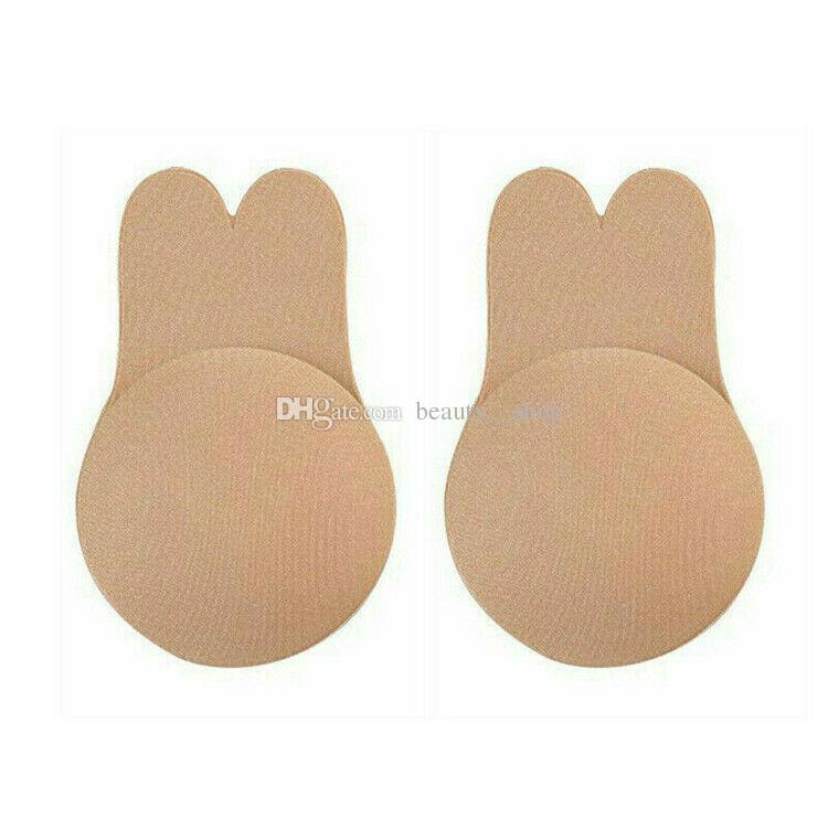 Frauen Push Up Bh Hasenohren Selbstklebende Bh Silikon Nippel Abdeckungen Aufkleber Bruststraffung Bh Pad Unsichtbar Trägerlos