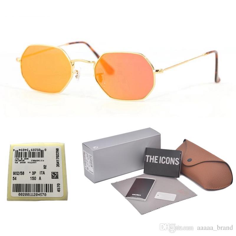 05ce8e2e9d0bd Excellent Quality Octagonal Sunglasses For Men Women Brand Designer Metal  Frame Glass Lens Retro Sun Glasses With Free Retail Box And Label Sunglasses  Shop ...