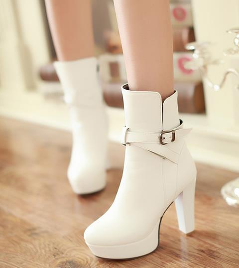 toka moda lüks tasarımcı kadın botları Artı boyutu 34-40 41 42 43 Trendy yüksek tüp yarım bot