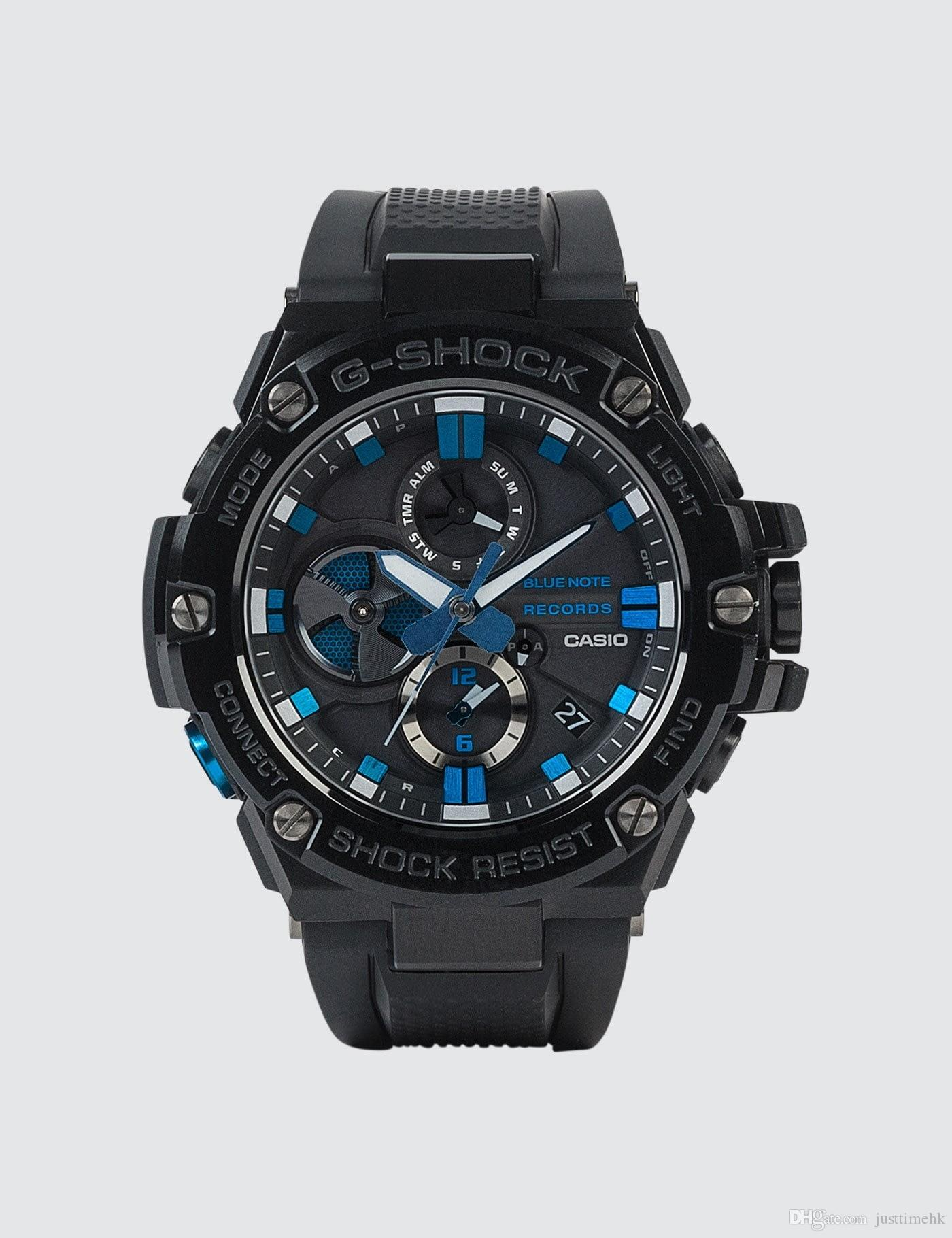 Casio G Shock G Steel Blue Note Records Limited Gst B100bnr 1a Tough