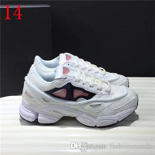sale retailer 56e84 c4c10 NEWEST RAF SIMONS CONSORTIUM OZWEEGO 3 OZ III CASUAL SHOES SNEAKERS WITH R  LOGO FOR MEN WOMEN 2018 WHITE BZROWN AUTHENTIC SNEAKERS