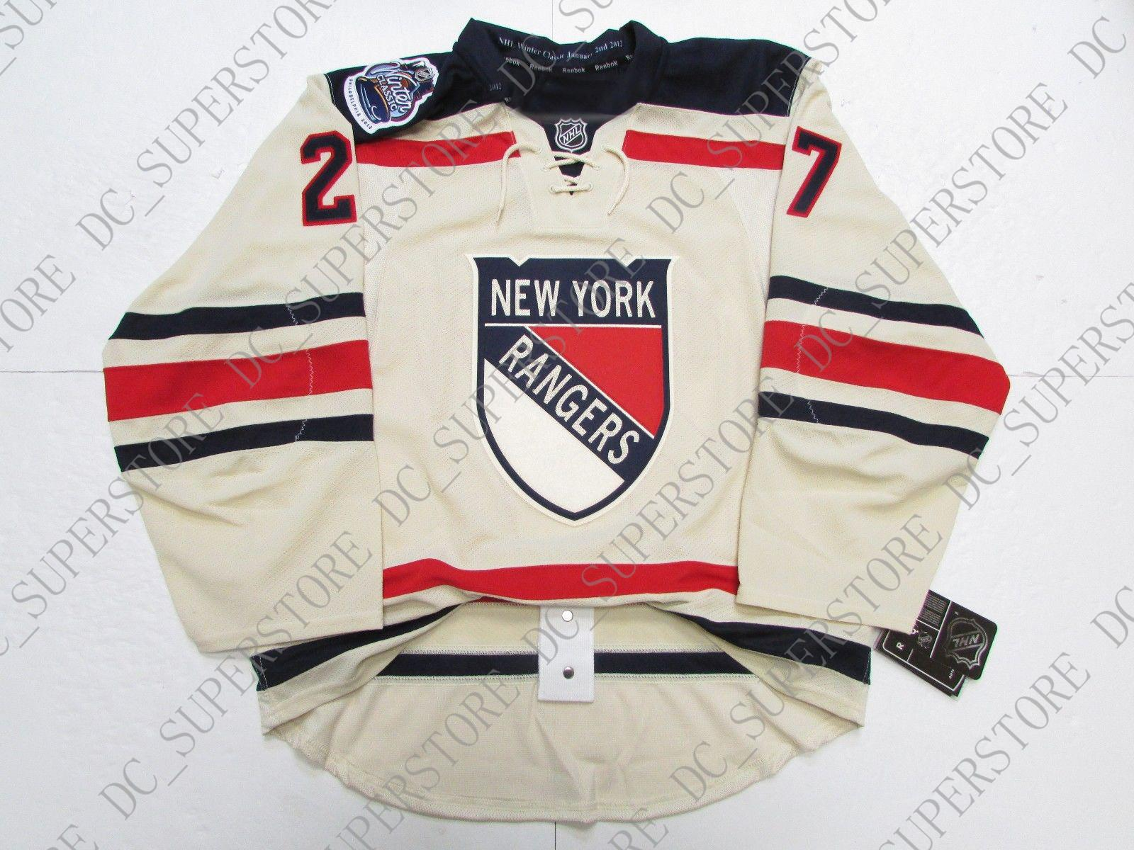 outlet store 1123c e2ee8 Cheap custom McDONAGH NEW YORK RANGERS 2012 WINTER CLASSIC JERSEY stitch  add any number any name Mens Hockey Jersey XS-5XL