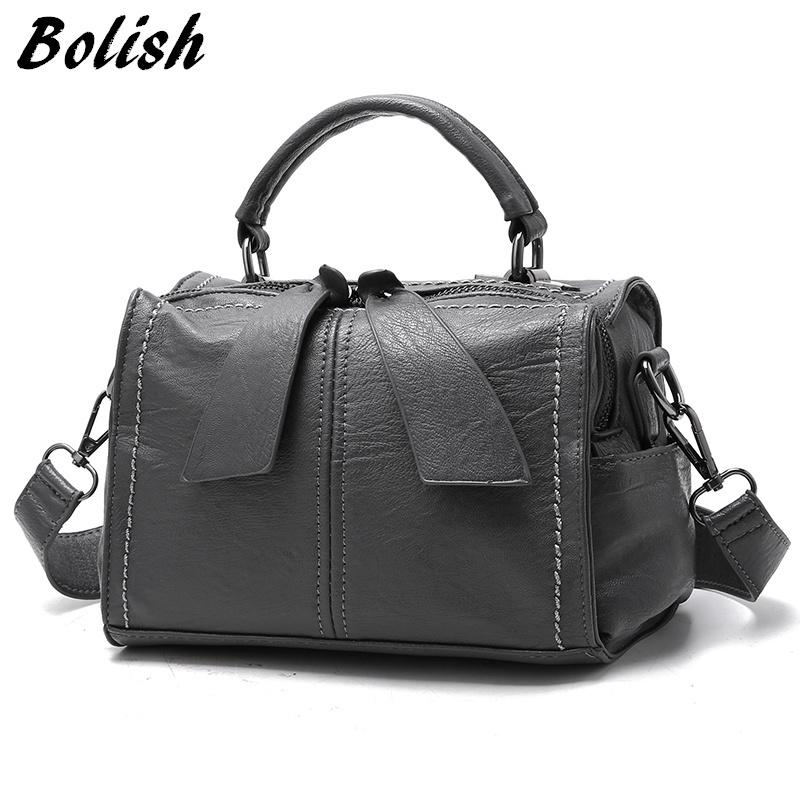 2019 Fashion Bolish Brand Soft PU Leather Women Handbag Female Shoulder Bag  Larger Size Tote Bag  Women Messenger Bag Wholesale Purses White Handbags  From ... 0d793fc3c4842