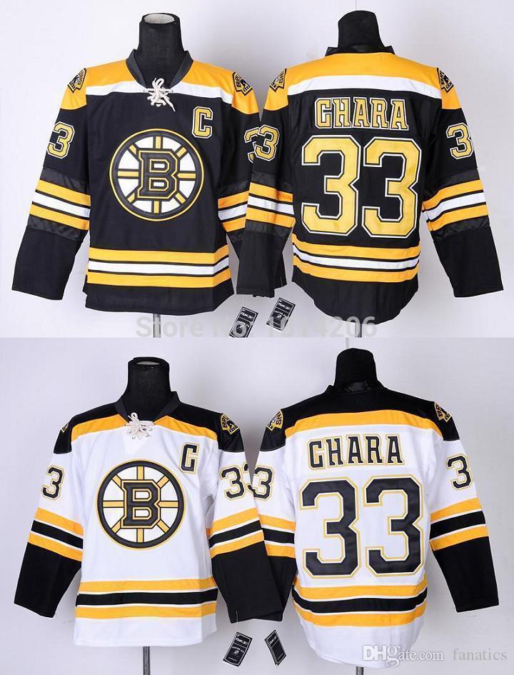 buy popular 4f306 9705a Zdeno Chara Jersey #33 Boston Bruins Jerseys Black Home White Road  Wholesale Cheap Hockey Jerseys