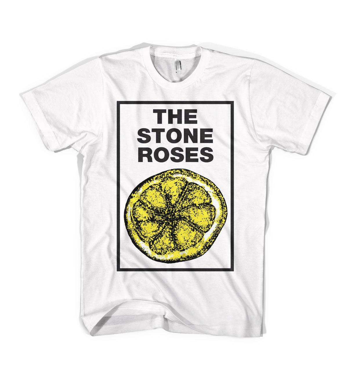 1bcaedc6ebd8 New Retro The Stone Roses Lemon Unisex T Shirt All Sizes WHITE ColoursFunny  Unisex Casual Tshirt Top Offensive T Shirt T Shirt Slogan From Pepitaprint