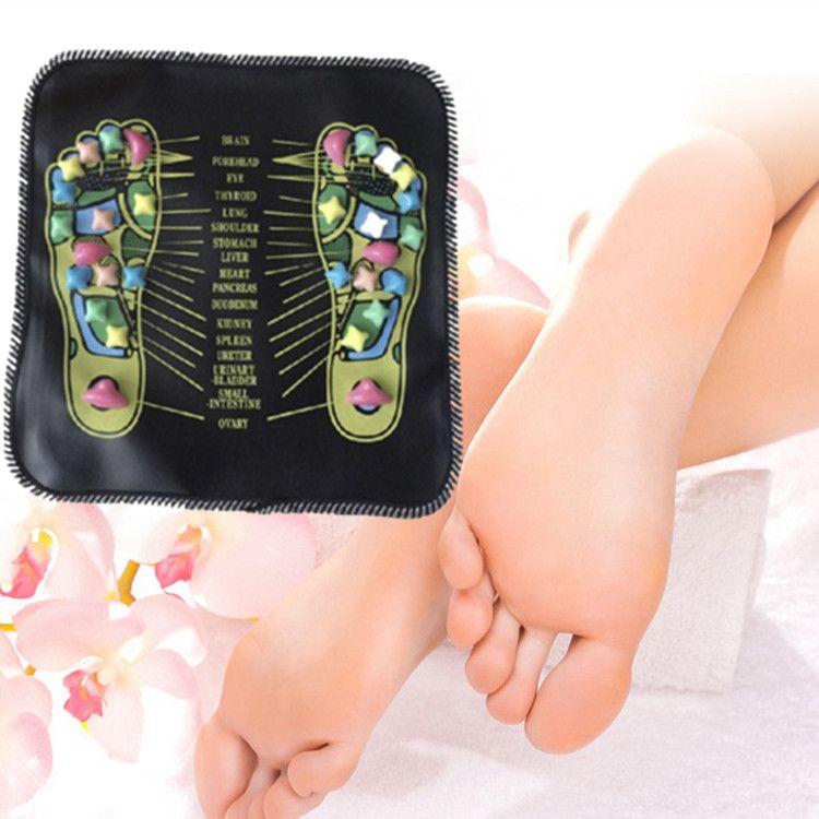Masseur d'acupuncture des pieds Coussin Carré Pierre Carré Tapis de Yoga Pour les jambes Point d'acupuncture Activation de la réflexologie Massage des pieds Soins des pieds