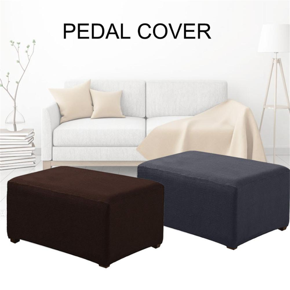 Elastic Sofa Cover Chair Footstool Foot-rest Pedales Stool Bench Cushion Covers Home Furniture Protector Removable SlipcoverQ259
