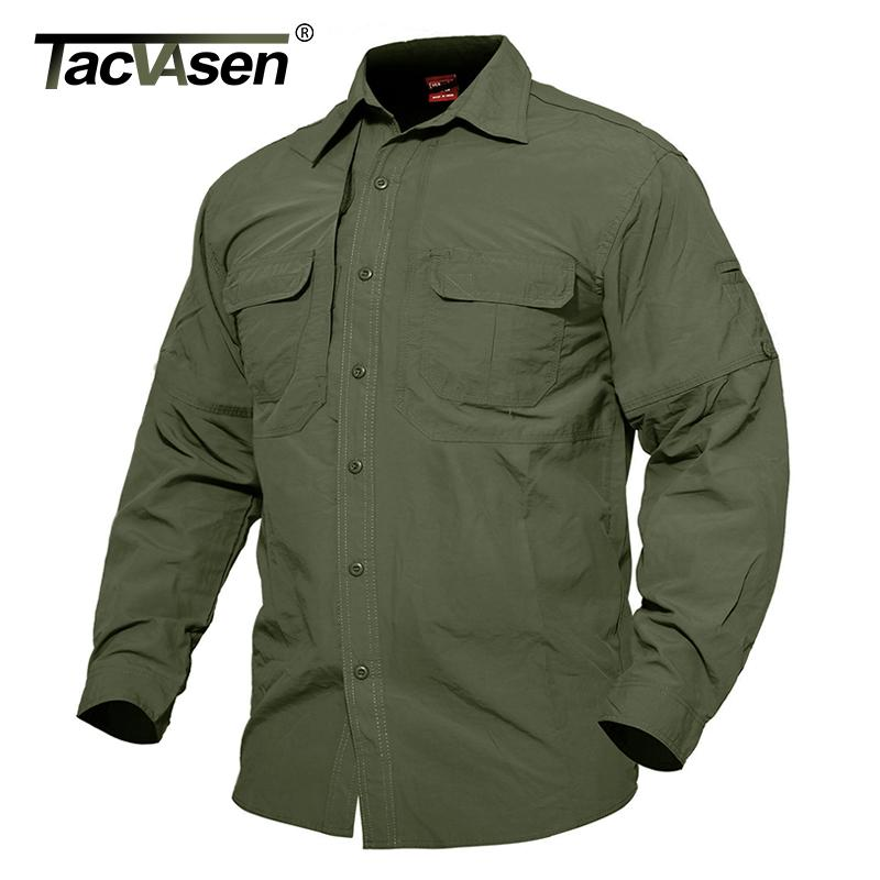 Tacvasen Men's Summer Tactical Clothing Quick Dry Military Shirt Breathable Long Sleeve Shirt Men Combat Shirts Td-jne-003-01 Y190415