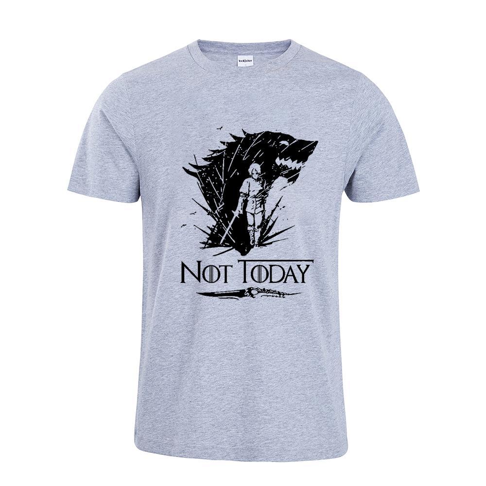 Arya Stark Shirt Game Of Thrones Arya Stark Not Today Tshirt Top Tees Men Women Top T-shirts