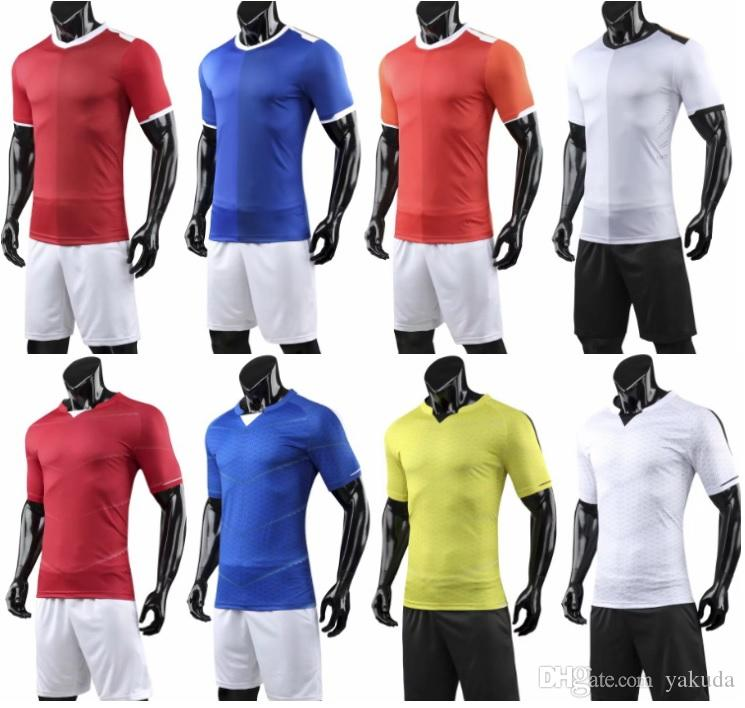 e417078afca 2019 Personalized Customized Blank Soccer Jersey Sets Short