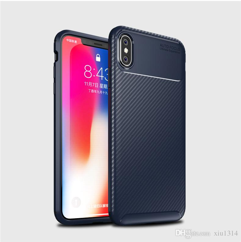 Carbon Fiber Phone Cases For iphone XS MAX XR X Case Soft Silicone TPU Shockproof Back Cover For Samsung S10 S10E S10 Plus M20 A30 A50 A70